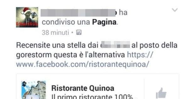 Recensioni false facebook