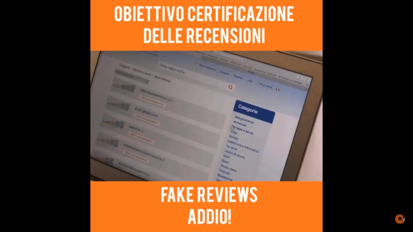 Obiettivo: certificazione delle recensioni… fatto!