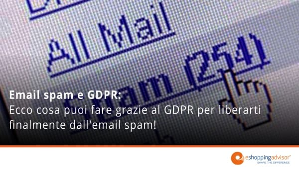 email spam e gdpr