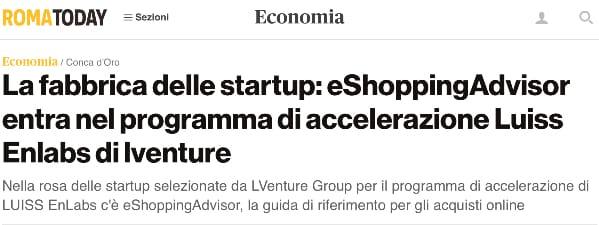 eShoppingAdvisor entra nel programma di accelerazione Luiss Enlabs