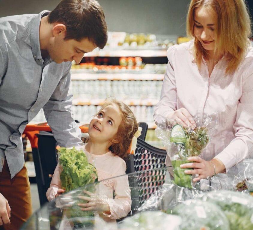 spesa presso piccoli e medi negozi